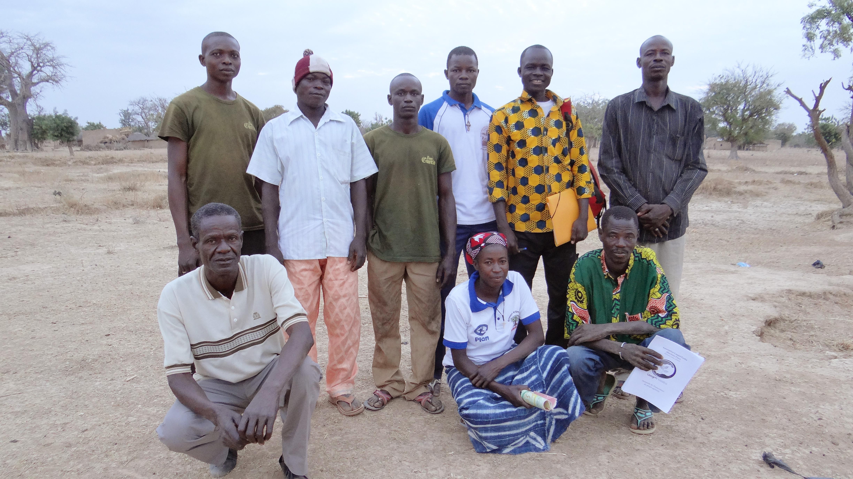 Les membres du bureau au Burkina Faso